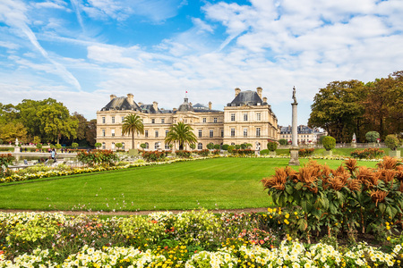 View to the Jardin du Luxembourg in Paris, France. Stock Photo