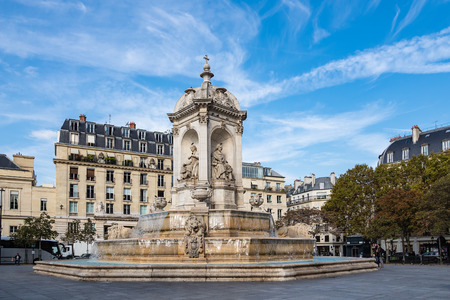 View to the Visconti-Fountain in Paris, France. Stock Photo