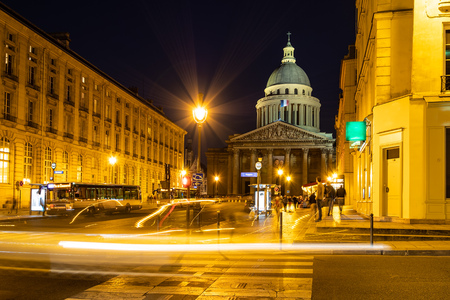 View to the Pantheon in Paris, France. Stock Photo