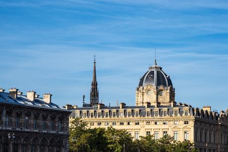 View to the chapel Sainte-Chapelle in Paris, France.