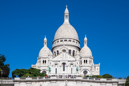 View to the basilica Sacre-Coeur in Paris, France. Stock Photo