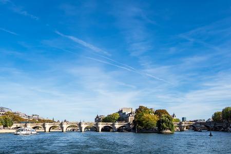 View to the bridge Pont Neuf in Paris, France. Stock Photo