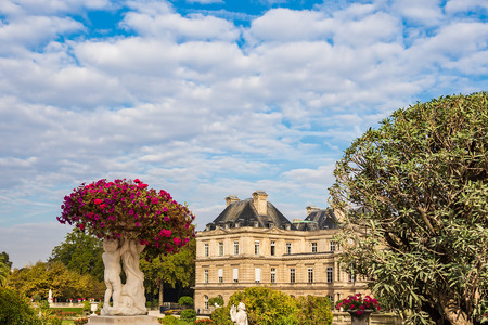 View to the Jardin du Luxembourg in Paris, France. Editorial
