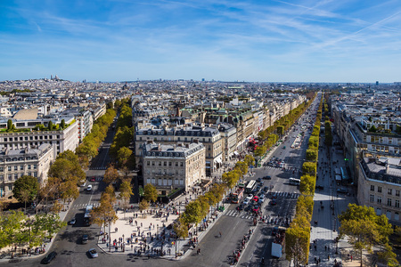View to the basilica Sacre-Coeur in Paris, France. Editorial