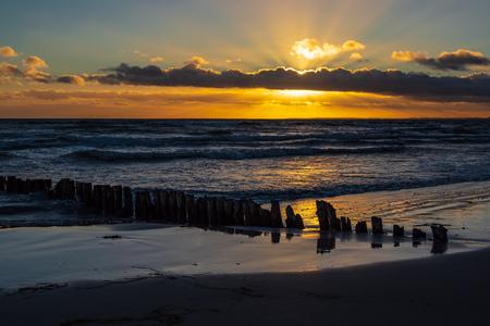 Baltic Sea coast on the island Moen in Denmark. Standard-Bild - 117414180