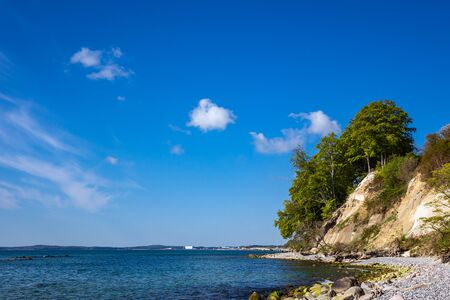 Baltic Sea coast on the island Ruegen in Germany. Banque d'images - 129369805