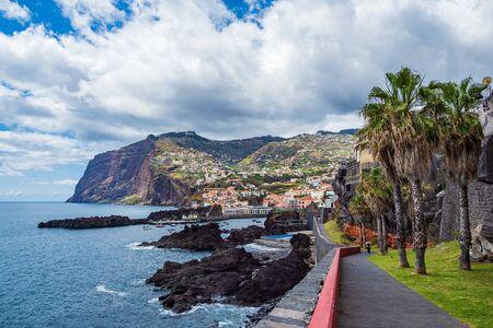 View to the city Camara de Lobos on the island Madeira, Portugal.