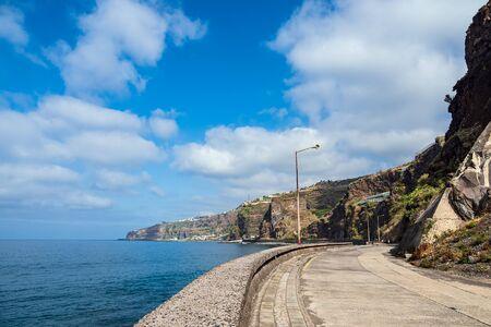 Street in Ribeira Brava on the island Madeira, Portugal.