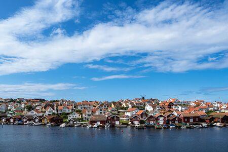 View to the city Fiskebaeckskil in Sweden. Standard-Bild
