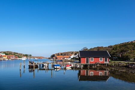 View to the city Hamburgsund in Sweden.