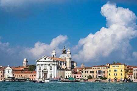 View to the church Santa Maria del Rosario in Venice, Italy. 写真素材