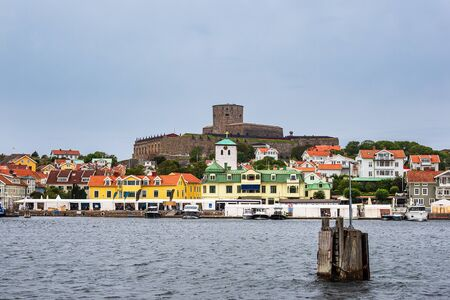 View to the city Marstrand in Sweden.