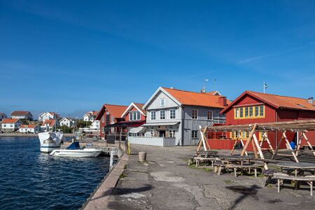 View to the port of Molloesund in Sweden.