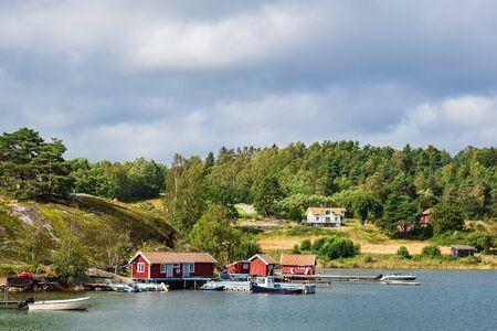 View to the port of Slussen in Sweden.