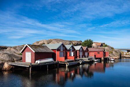 View to the city Smoegen in Sweden.