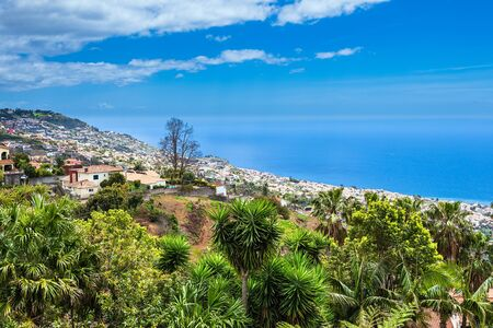 View to the city Funchal on the island Madeira, Portugal.
