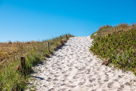Way to the beach on the Baltic Sea coast in Germany. Stock Photo