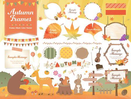 AutumnFrame Illustration Line Material Set