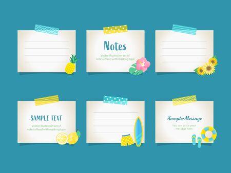 Memo, Paper, Summer, Frame, Tape