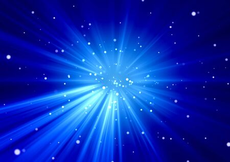 Background image of abstract blue light and particles on a concentration line / Stars, Universe, Explosion