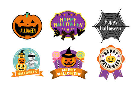 Halloween material/label, badge and emblem set Vettoriali