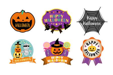 Halloween material/label, badge and emblem set Vettoriali