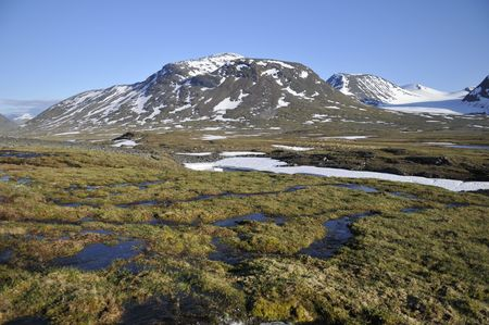 Ruotesvagge in Sarek National Park, North Sweden Stock Photo