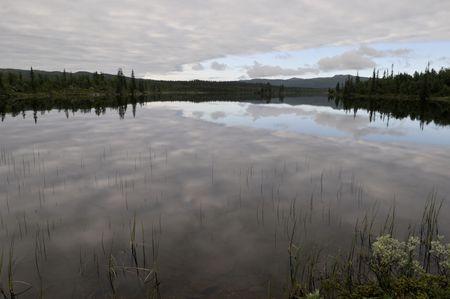 lake Stuor Dahta in North Sweden