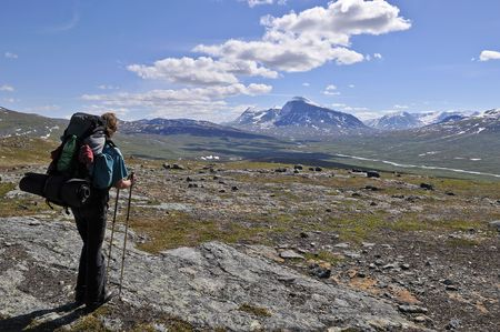 Wanderer im Sarek Nationalpark