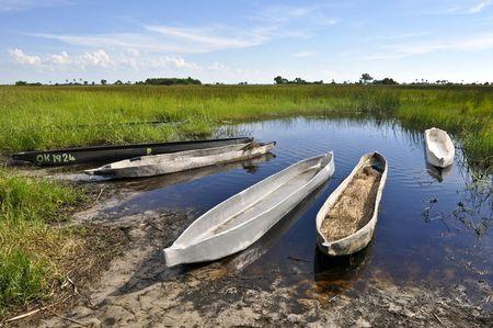 Mokoros in Okavango delta