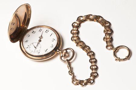 pocket watch: Golden pocket watch