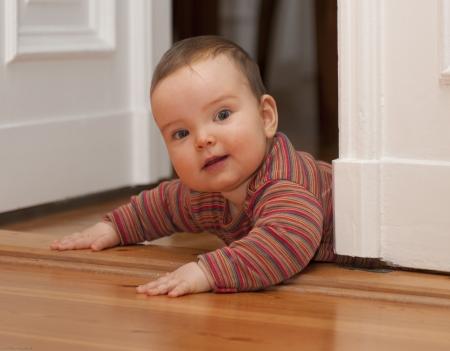 Baby in the door