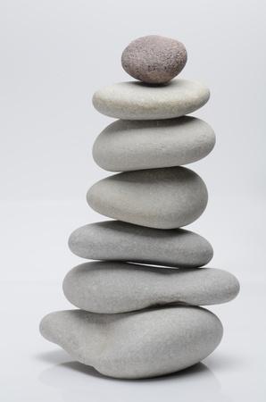 Stones on isolated background