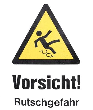 Danger plate  Standard-Bild