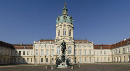 Charlottenburg palace seen from the courtyard Stock Photo
