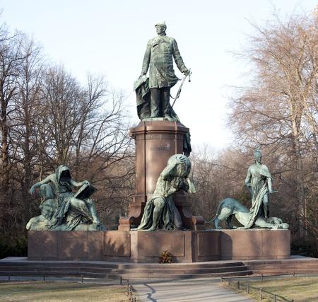 Bismarck statue in Berlin Stock Photo