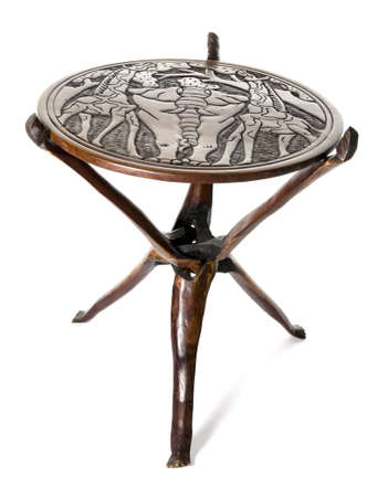 rosewood: Handmade african round table of rosewood