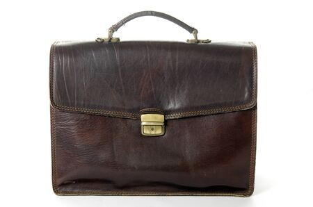 Old briefcase made of leather