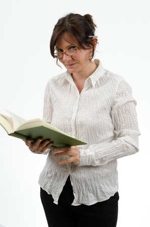skim: Woman with book