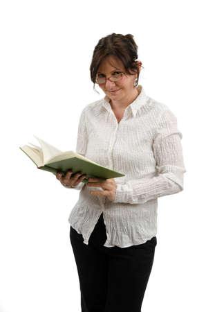 rigorous: Donna con libro Archivio Fotografico