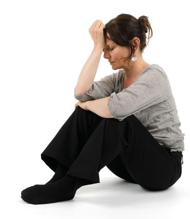 A melancholic woman Stock Photo