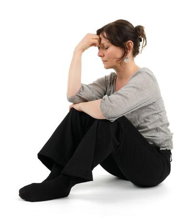 A melancholic woman Standard-Bild