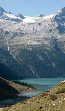 scarp: Mountain in the Zillertal Alps Stock Photo