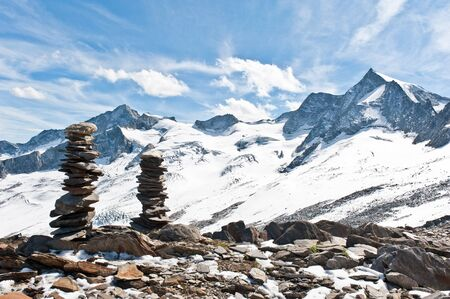 Mountain in the Zillertal Alps Stock Photo