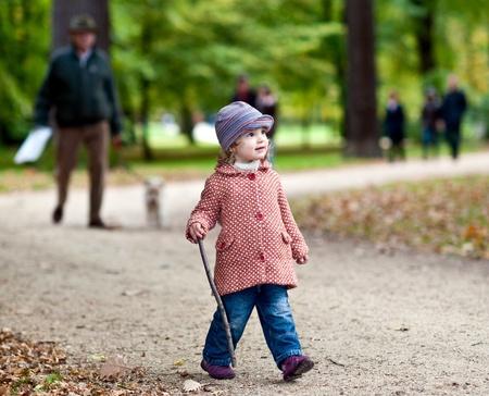 Girl in park Standard-Bild