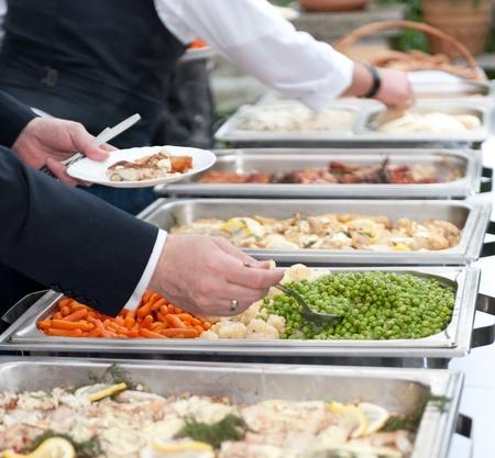 buffet food: Autoservicio Foto de archivo