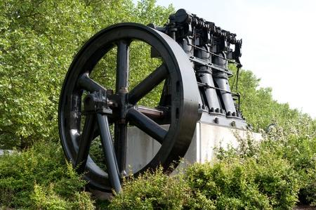 Historical steam engine Stock Photo