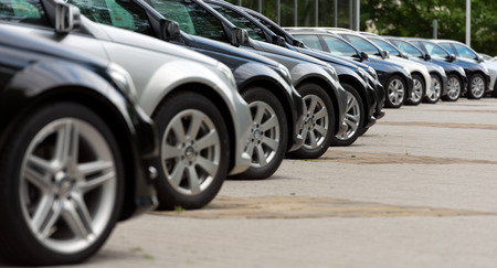 Cars for sale on a parking place