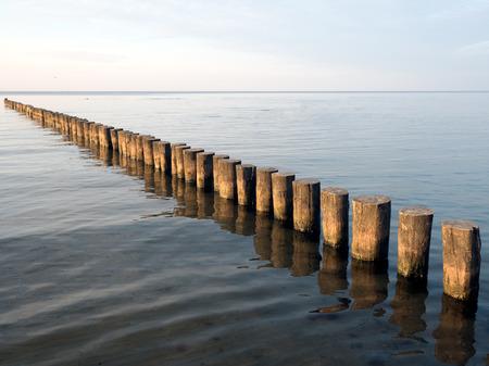 baltic sea: Groynes series in the Baltic Sea