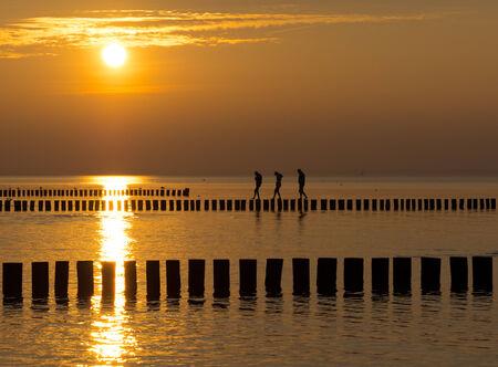 Sunset on the Baltic Sea photo